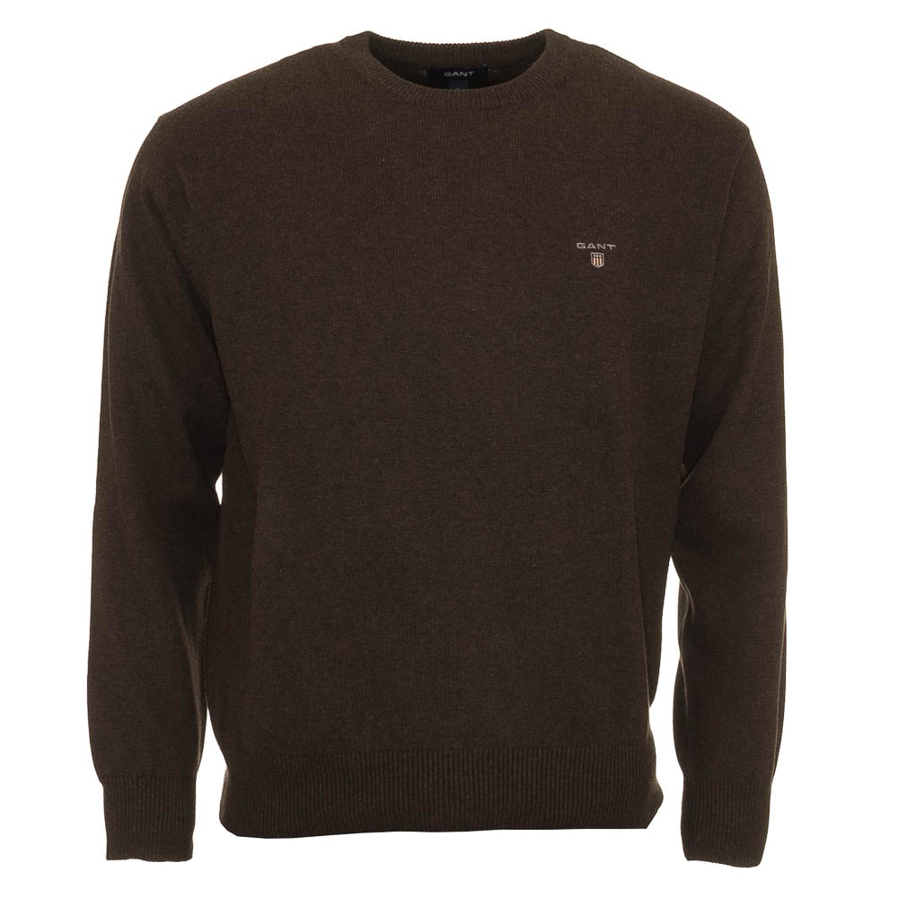 gant Crew Neck Sweater / Jumper - Dark brown