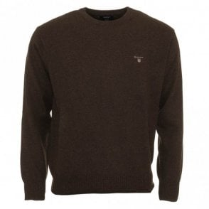 Crew Neck Sweater / Jumper - Dark brown