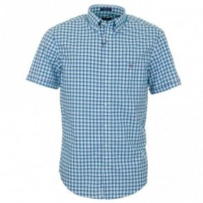 Gc. Backspin Oxford Check Short Sleeve Shirt - Blue Check
