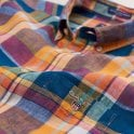 Gant Linen Madras Shirt Reg Bd -papaya Orange