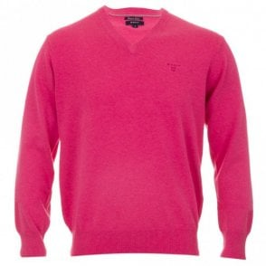 Lt. Weight Cotton V-neck - Pink