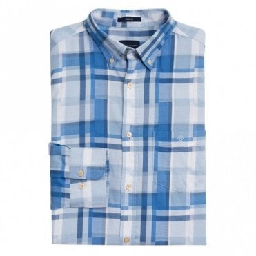 Madras Irregular Shirt - Blue Check