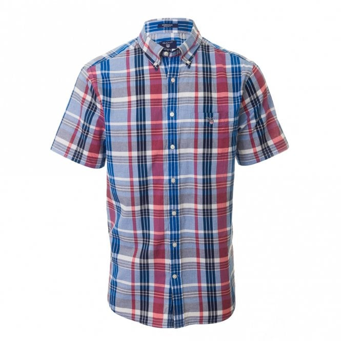 Gant Madras Plaid Bd Short sleeve - Pink Check