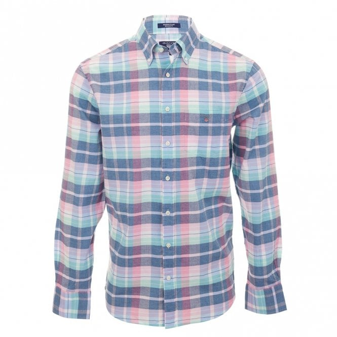 Gant Madras Plaid Reg - Blue Check