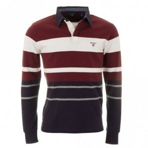 Multi Stripe Heavy Rugger - Wine