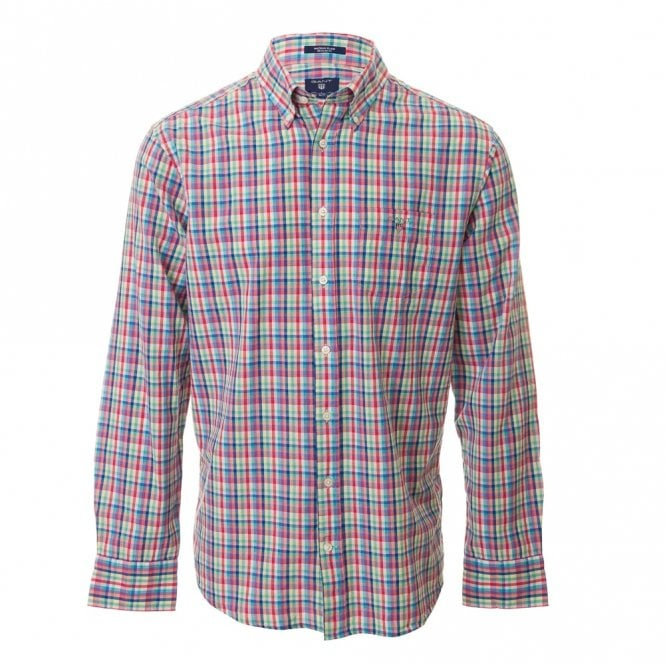 Gant O2 Madras Plaid Check Shirt - Pink Check