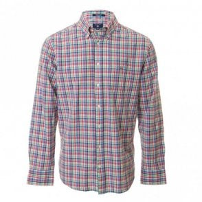 O2 Madras Plaid Check Shirt - Pink Check