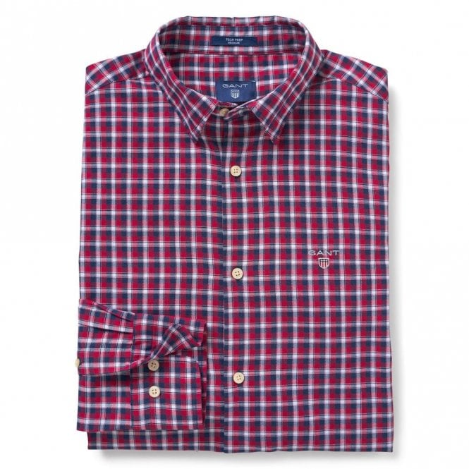 Gant Oxford Check Raspberry Red - Red Check