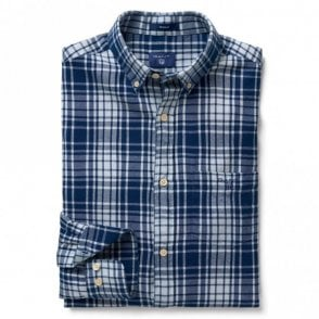 Regular Windblown Flannel Indigo - Blue Check