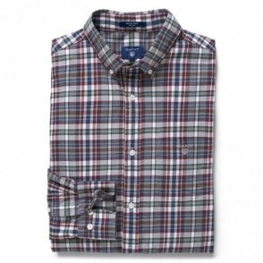 Regular Winter Twill Melange Plaid Shirt Persian Blue - Blue Check