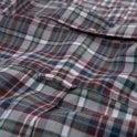 Gant Regular Winter Twill Melange Plaid Shirt Persian Blue - Blue Check
