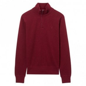 Sacker Rib Half Zip Burgundy