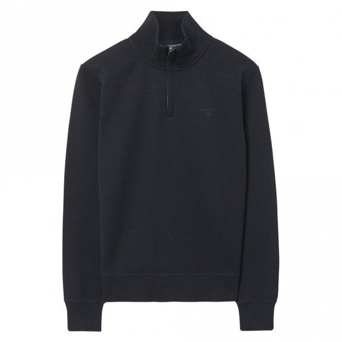 Gant Sacker Rib Half Zip Sweater Navy