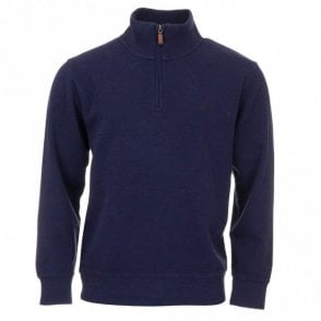 Sacker Rib Half Zip Top - Blue
