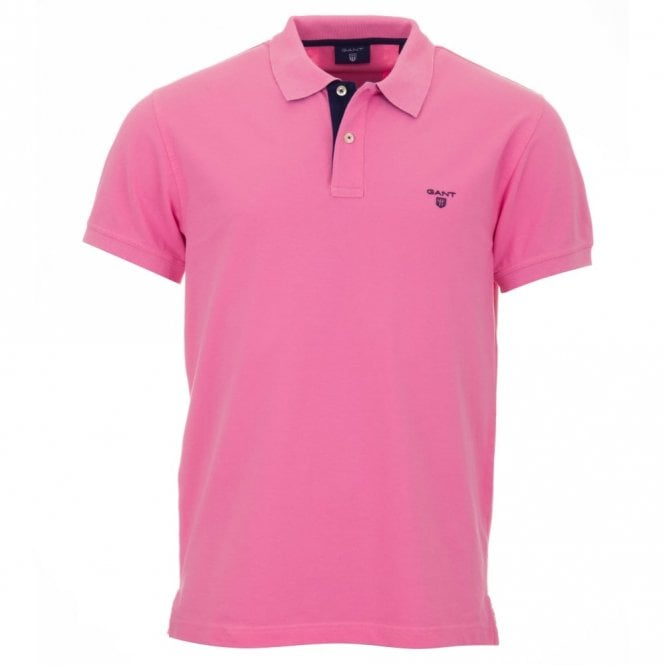Gant Short Sleeve Pique Polo Shirt - Pink