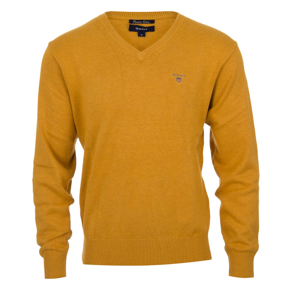 Yellow V Neck Sweater 19