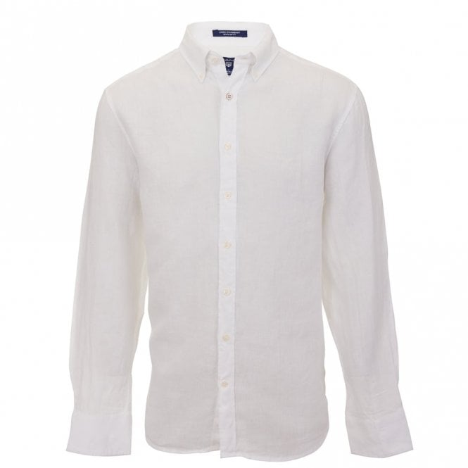 Gant Solid Linen Reg Bd - White