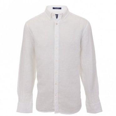 Solid Linen Reg Bd - White