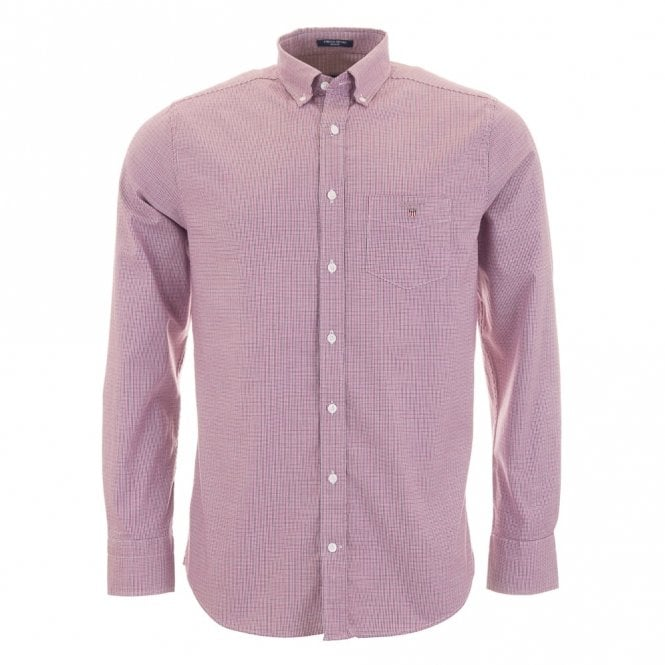 Gant Stretch Oxford Check - Purple check