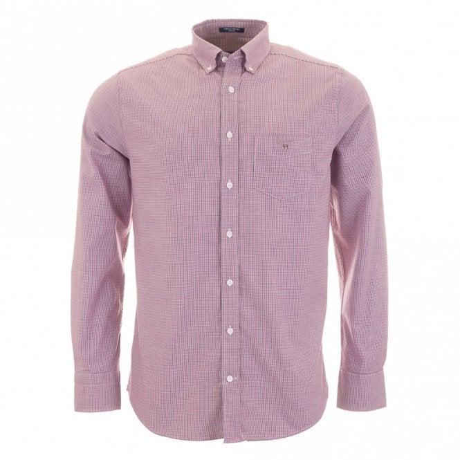 Gant Stretch Oxford Check - Purple check