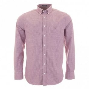 Stretch Oxford Check - Purple check