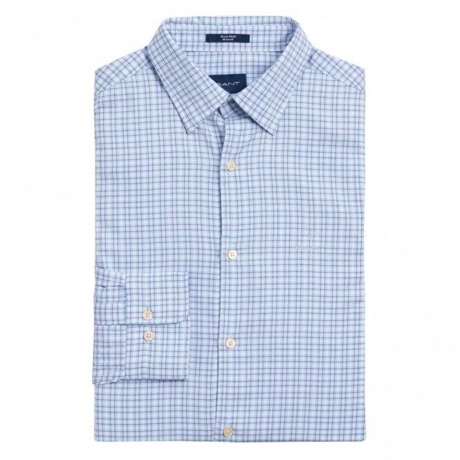 Gant Tech Prep Oxford Check Shirt - Hamptons Blue