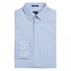 Tech Prep Oxford Check Shirt - Hamptons Blue