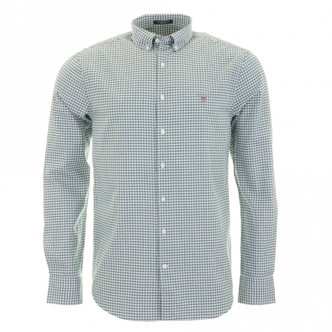 Gant Tech Prep Oxford Gingham - Green Check