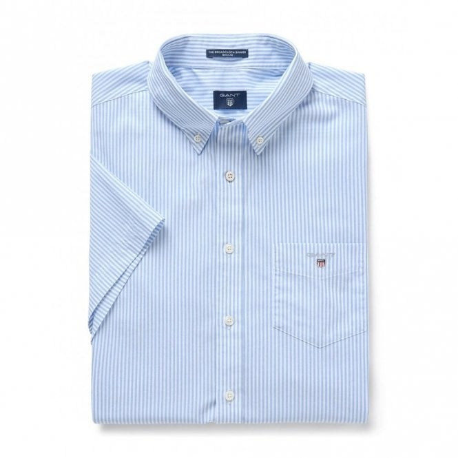 Gant The Broadcloth Banker Reg ss - Blue Stripe
