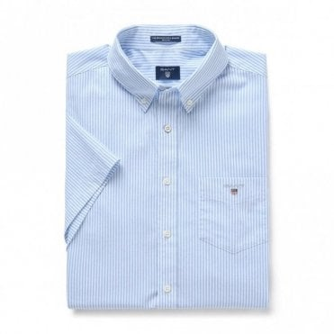 The Broadcloth Banker Reg ss - Blue Stripe