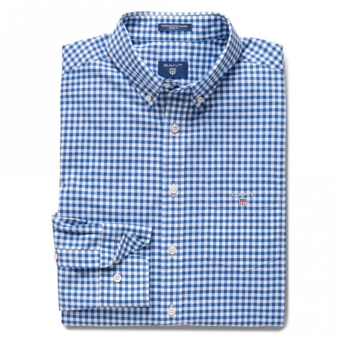Gant The Broadcloth Gingham - Blue Check