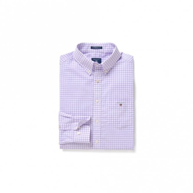 Gant The Broadcloth Gingham shirt Reg Bd - soft violet