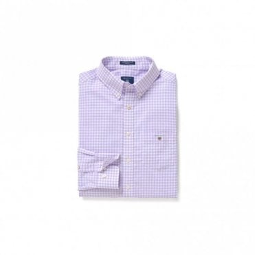 The Broadcloth Gingham shirt Reg Bd - soft violet