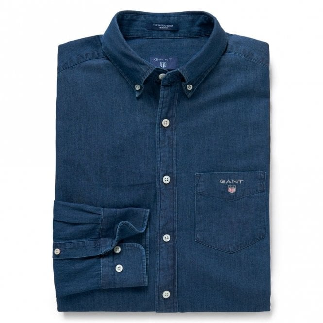Gant The Indigo Shirt - Dark Indigo