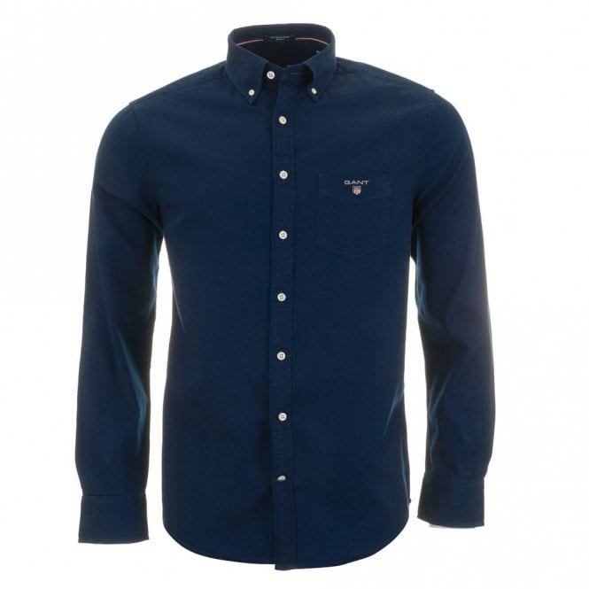Gant The Indigo Shirt Reg Bd - Dark Indigo