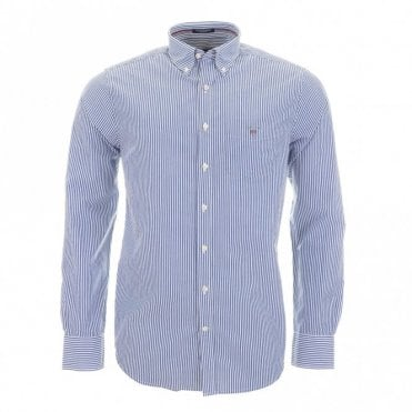 The Poplin Banker Stripe - Blue Stripe