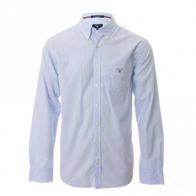 Gant The Poplin Banker Stripe - Blue/white