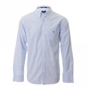 The Poplin Banker Stripe - Blue/white