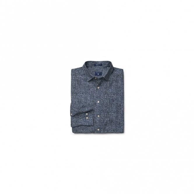 Gant Tweed Print Twill shirt - Blue