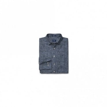 Tweed Print Twill shirt - Blue