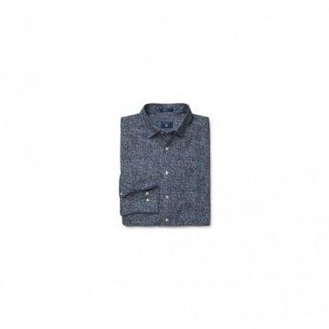 Tweed Print Twill shirt - Blue
