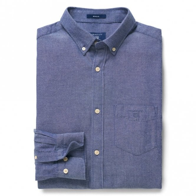 Gant Windblown Flannel Persian Blue - Blue