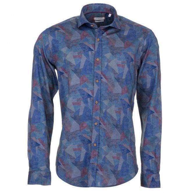 Giordano Blue Polygon Shirt