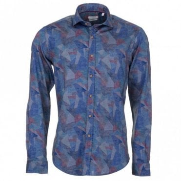 Blue Polygon Shirt