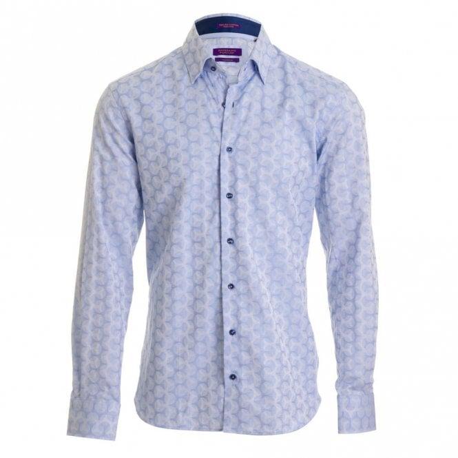 Giordano Blue Print Shirt - Blue