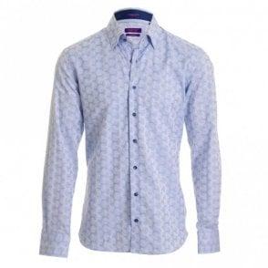 Blue Print Shirt - Blue