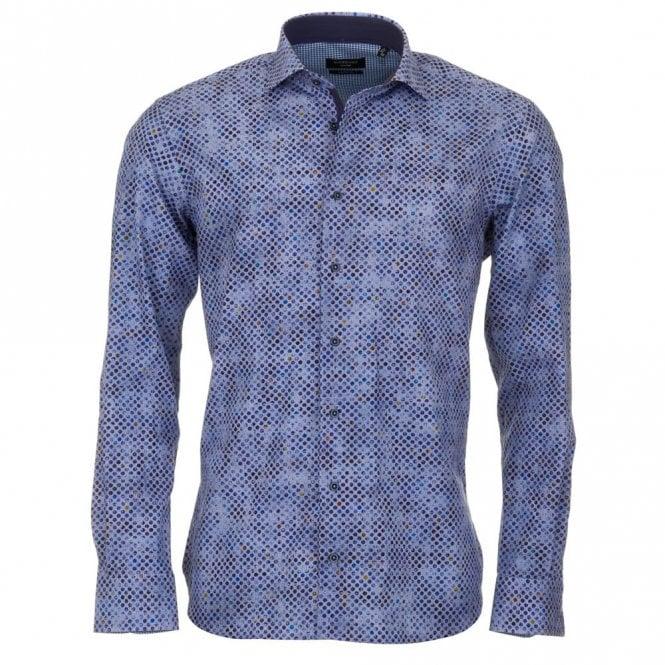 Giordano Blue Print Shirt