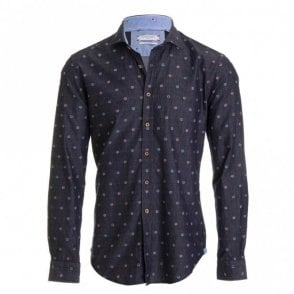 Denim Blue Flower Shirt - Denim
