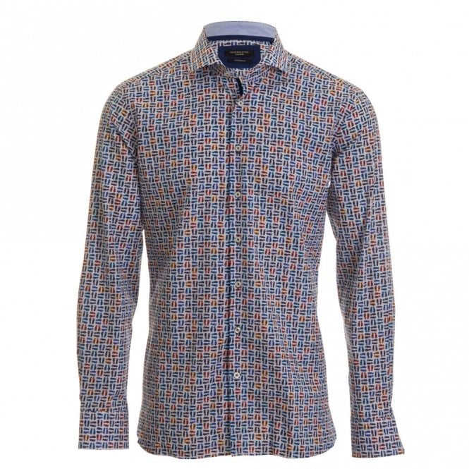 Giordano Flip Flop Print Shirt - Blue
