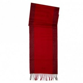 Albarello Wool Cashmere Scarf - Red
